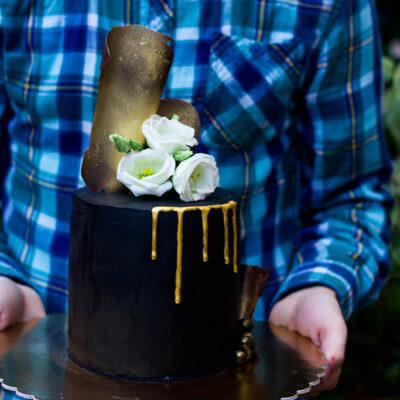 Extra čokoládový černý dort (5)