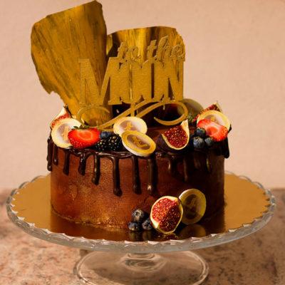 Narozeninový čokoládový dort «To the moon» (6)