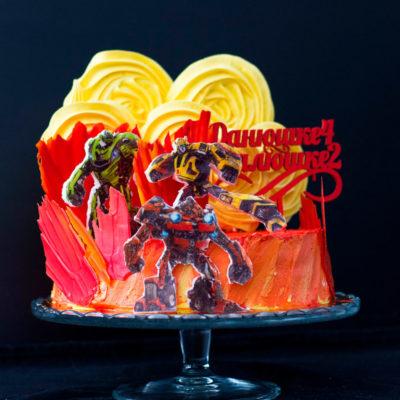 Narozeninový dětský dort «Transformers»