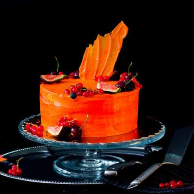 Narozeninový dort «Orange Star»