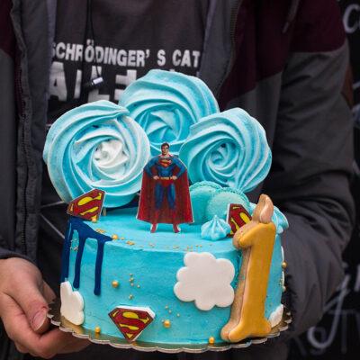 Narozeninový dětský dort «Superman» (2)