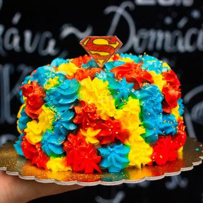Narozeninový dětský dort «Superman»