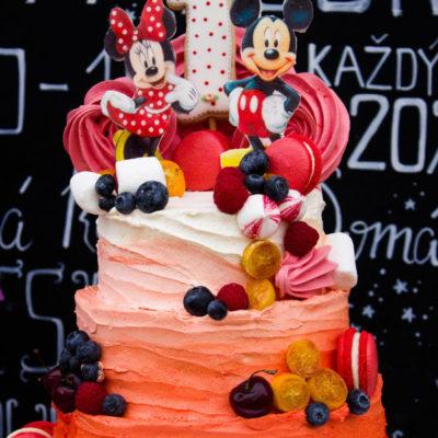 Narozeninový dětský dort «Mickey Mouse 1» (6 kg, 3500 kč)