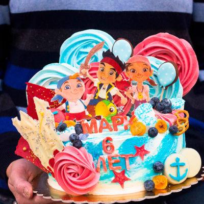 Narozeninový dětský dort «Piráti»