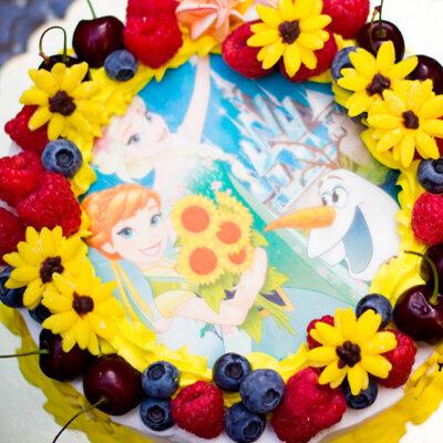 Narozeninový dort «Frozen Fever»