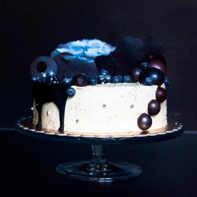Extra čokoládový dort «černý a bilý» (4)
