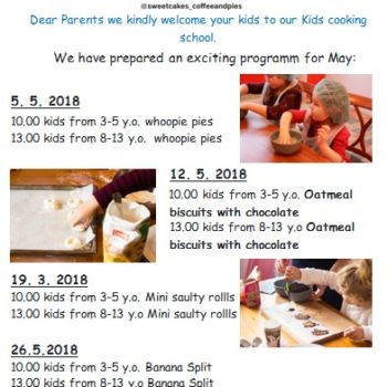 Kids cooking courses for May