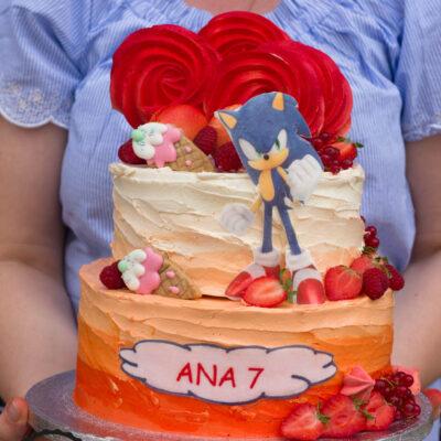 Narozeninový dort «Sonic the hedgehog»