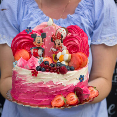 Narozeninový dort «Mickey Mouse 2» (2kg, 1450 kč)