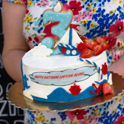 Dětský dort na narozeniny «Koráb»