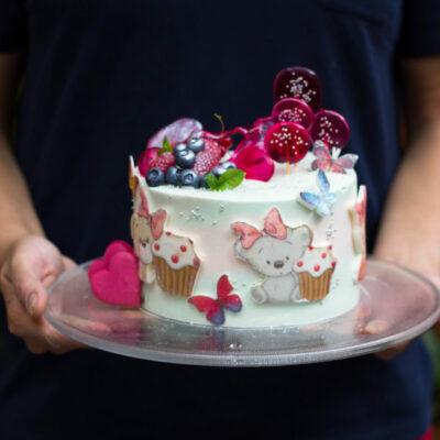 Dětský dort na narozeniny «Elen»