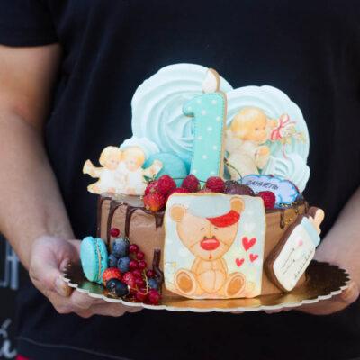 Dětský dort na narozeniny «Teddy»