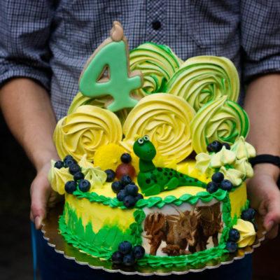 Dětský dort na narozeniny «Dino»