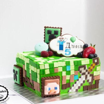 Dětský dort na narozeniny «Minecraft»