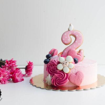 Dětský dort na narozeniny «Něha» (2)