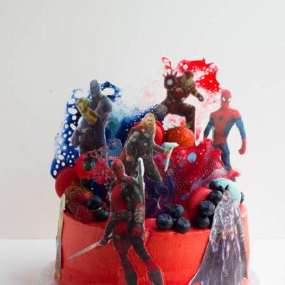 Dětský dort na narozeniny «SuperHeroes»