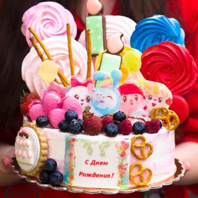 Dětský dort na narozeniny «Něha»