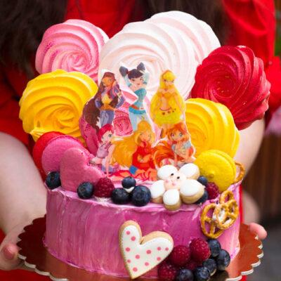 Dětský dort na narozeniny «Winx»