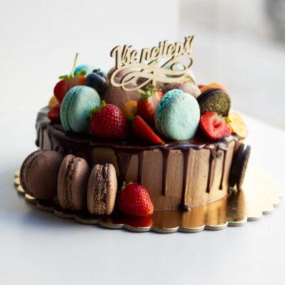 čokoládový dort na narozeniny