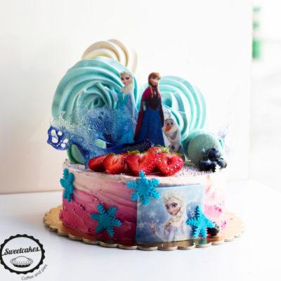 Dětský dort na narozeniny «Elza&Anna»