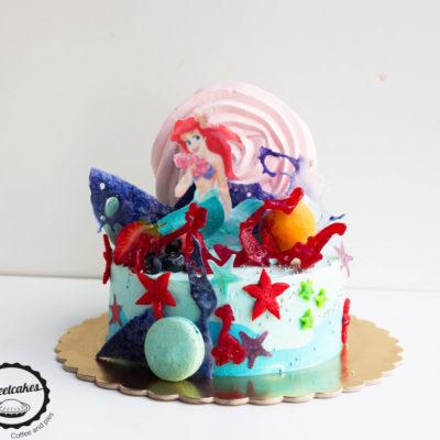 Dětský dort na narozeniny «Ariel»
