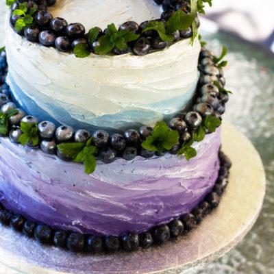 Svatební dort dvoupatrový