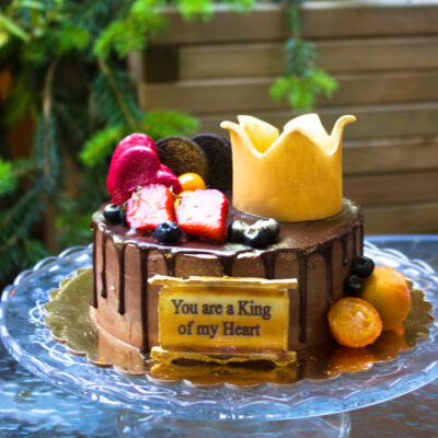 čokoládový dort pro muže «King of my heart»