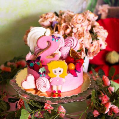 Dětský dort na narozeniny «Holčička»