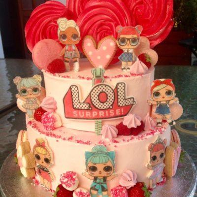 Dětský dort na narozeniny «LOL» (4 kg, 2500 kč)