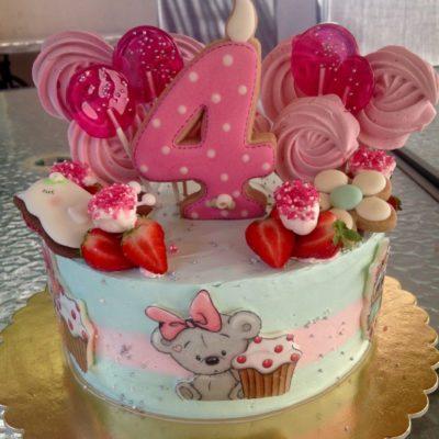 Dětský dort na narozeniny «Zajíček»