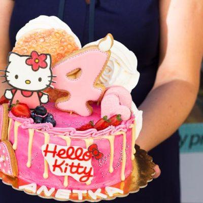 Dětský narozeninový dort «Hello Kitty»