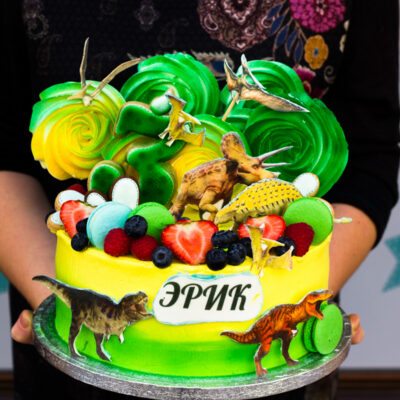 Dětský narozeninový dort «Dinosaurus» (2,5 kg, 1700 kč)