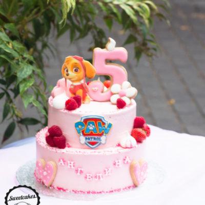 Dvoupatrový dětský dort na narozeniny «Paw Patrol»