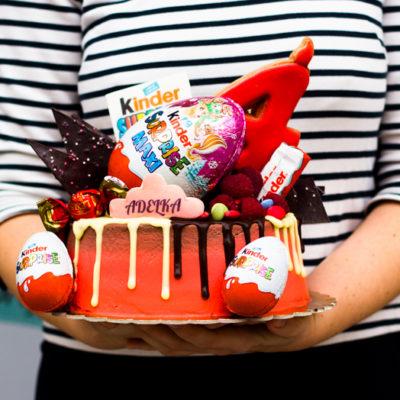 Dětský dort na narozeniny «Kinder»