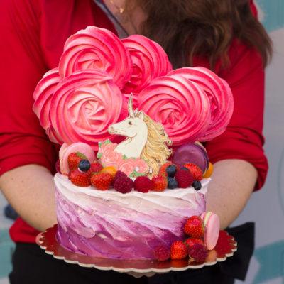 Dětský dort na objednávku «Jednorožec»