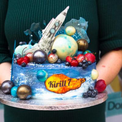 Dětský dort na objednávku «Kosmos»