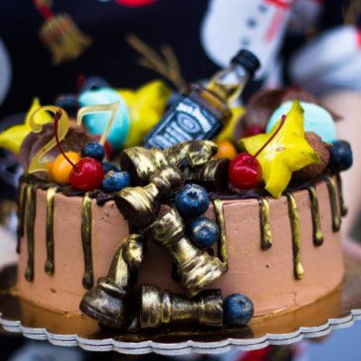 Narozeninový dort pro muže «šachy»