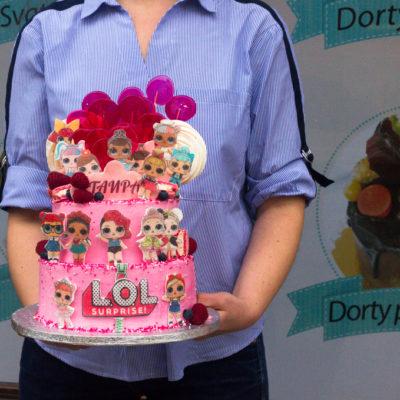 Dětský narozeninový dort na objednávku «LOL 3» (3,5 kg, 2200 kč)