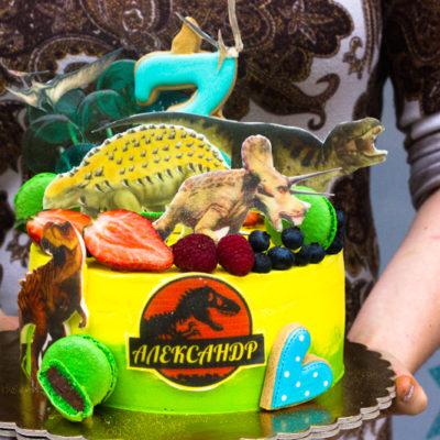 Dětský narozeninový dort «Jurassik Park 2»