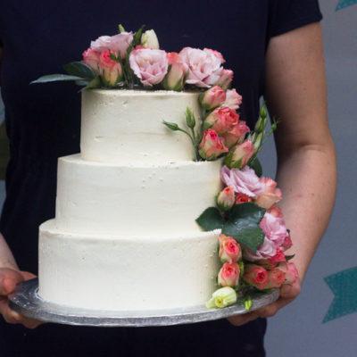 Svatební dort «Kytice»