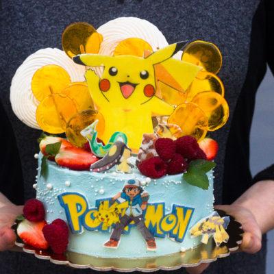 Dětský narozeninový dort na objednávku «Pokemon» (2,5 kg, 1700 kč)