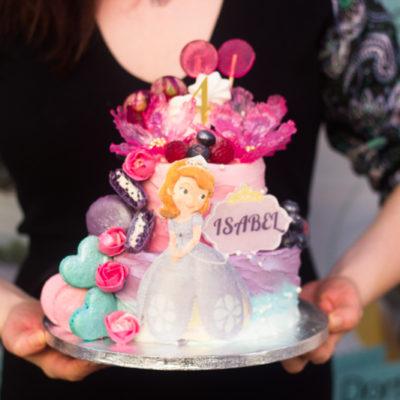 Dětský narozeninový dort na objednávku «Sofia»