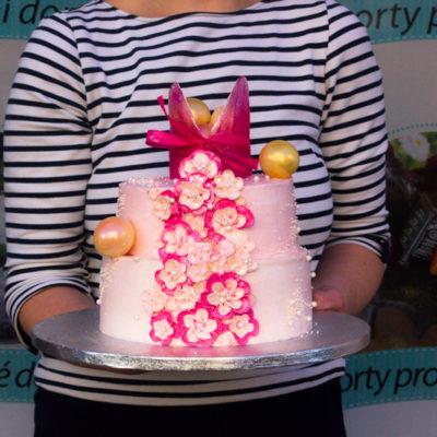 Dvoupatrový dětský dort na narozeniny «Princezna»