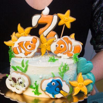 Dětský narozeninový dort na objednávku «Nemo»