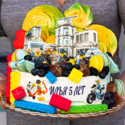 Dětský dort na narozeniny «Lego City Police»