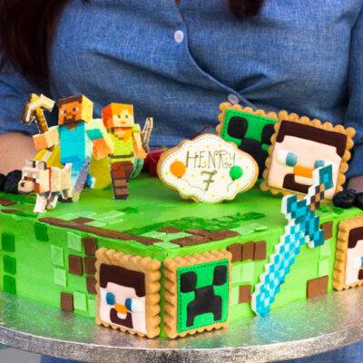 Dětský dort na objednávku «Minecraft»