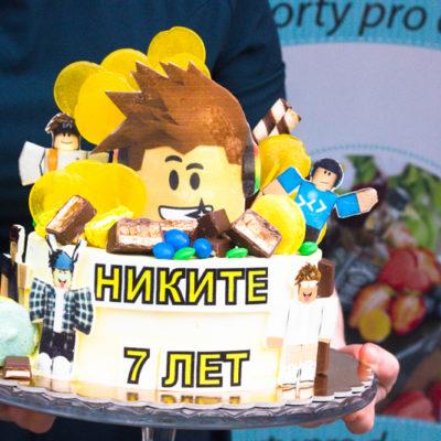Dětský narozeninový dort «Roblox»