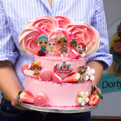 Dvoupatrový dětský dort na narozeniny «LOL 5» (3,5 kg, 2200 kč)