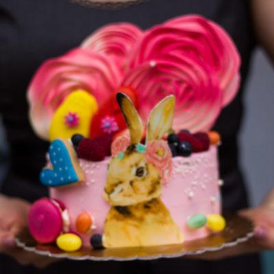 Dětský dort na objednávku Králík (2 kg, 1450 kč)