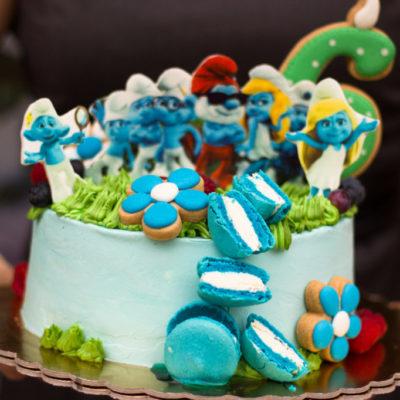 Dětský dort na objednávku Šmoulové